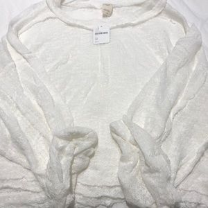 Free People off white Medium woman's top